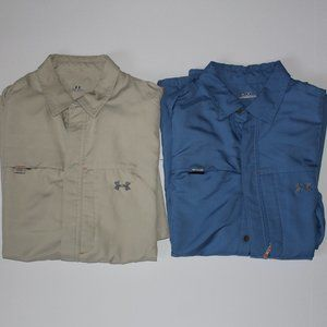 Lot of 2 Under Armour Outdoor Mesh SS Button Up